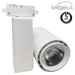 LED Tracklight 40W BERLIN White single-phase rails  CRI +90 UGR17