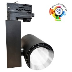 LED Tracklight 40W BERLIN Black 24º rails  CRI +90