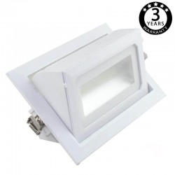 Foco proyector LED 36W orientable rectangular - 120º