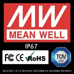 Power supply  PROFESSIONAL 5V 25W 5A - MEAN WELL - IP67 - TÜV