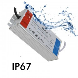 Power supply 12V 60W 4A - Aluminium IP67