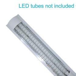 Housing for two LED tubes IP65  60cm