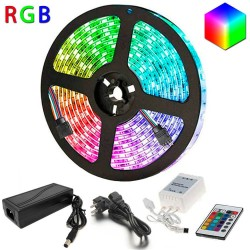 Pack LED Strip 14.4W RGB IP65  + Controller + F. Power supply 12V