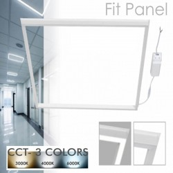 FIT LED-panel 60x60 40W vit ljusram - CCT