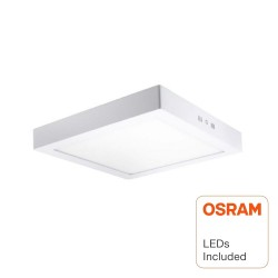 Plafond LED Superfície Quadrado 20W  - OSRAM CHIP DURIS E 2835
