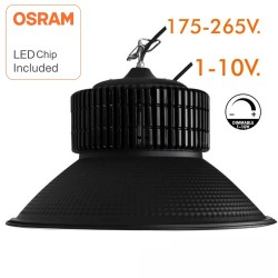 Cloche LED 100W DIMMABLE 1-10V - PRO Noire diodes OSRAM