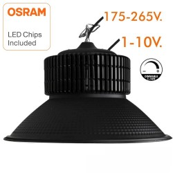 Cloche LED 150W DIMMABLE 1-10V - PRO Noire diodes OSRAM
