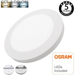 Placa Plafon LED Circular Downlight -MOSS -18W AJUSTABLE COLOR SELECCIONABLE - CCT
