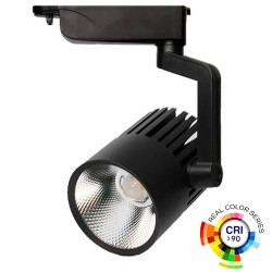 40W LED Tracklight  PISA Black  Single-phase rails 35º