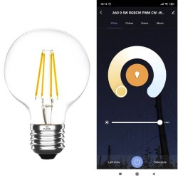 Ampoule LED 7W SMART Wifi RGB+CCT Filament - G80 Dimmable - E27