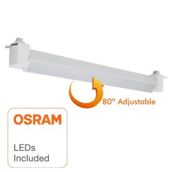 Spot LED  20W LINEAIRE ESSEN OSRAM Chip pour rail Monophasé - 36°