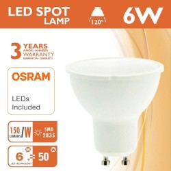 Dicroica LED 6W 120° GU10 - OSRAM Chip