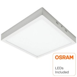 Plafond LED Superfície Quadrado 30W  - OSRAM CHIP DURIS E 2835