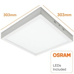 Square LED celling light surface 30W 120º - OSRAM Chip