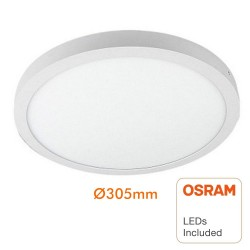 Circular LED ceiling light surface 30W 120º - OSRAM Chip