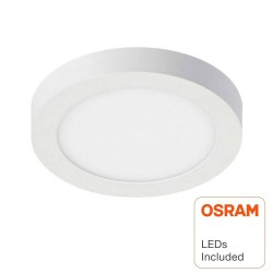 Plafond LED Superfície Circular 20W  - OSRAM CHIP DURIS E 2835