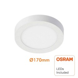 Circular LED ceiling light surface 15W 120º - OSRAM Chip