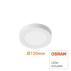 Circular LED ceiling light surface 8W 120º - OSRAM Chip