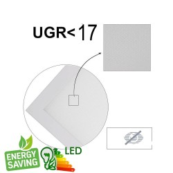 Panel LED 60x60 cm 40W UGR17  Frame White - CCT