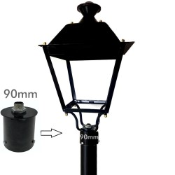 Coupling support for LED street lamp - 90mm