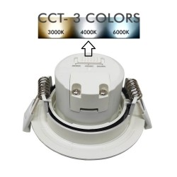 Downlight LED - 7W -  Rond gris brossé- CCT