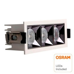 Empotrable LED 15W  OSRAM Chip  24º UGR17 140lm/W