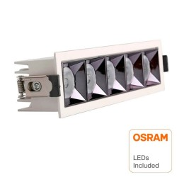 Downlight LED - 25W - Carre  - 18°- UGR17 140lm/W