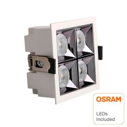 Downlight LED - 20W - Carre  - 18°- UGR17 140lm/W
