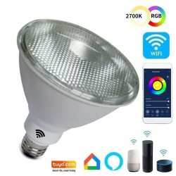 Lâmpada SMART Wifi RGB+CCT LED PAR de 12W - Regulável - E27