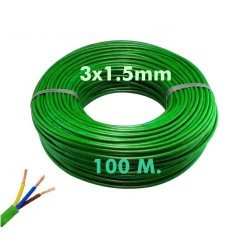 Electric hose (halogen free). CE approved commercial use  3x1.5mm 100Meter RZ1-K