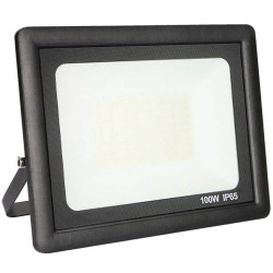 LED utomhusstrålkastare 100W svart ACTION IP65