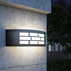 LED GOTHENBURG GRAY Wall Light by E27 Outdoor IP44