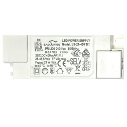 Driver for LED luminaires 20W - 450mA