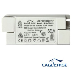 Driver for LED luminaires 25W 750mA