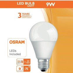 Lampadina a LED 9W E27 A60 180° - OSRAM CHIP DURIS E 2835