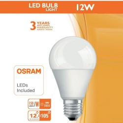 Lampadina a LED 12W E27 A60 180° - OSRAM CHIP DURIS E 2835