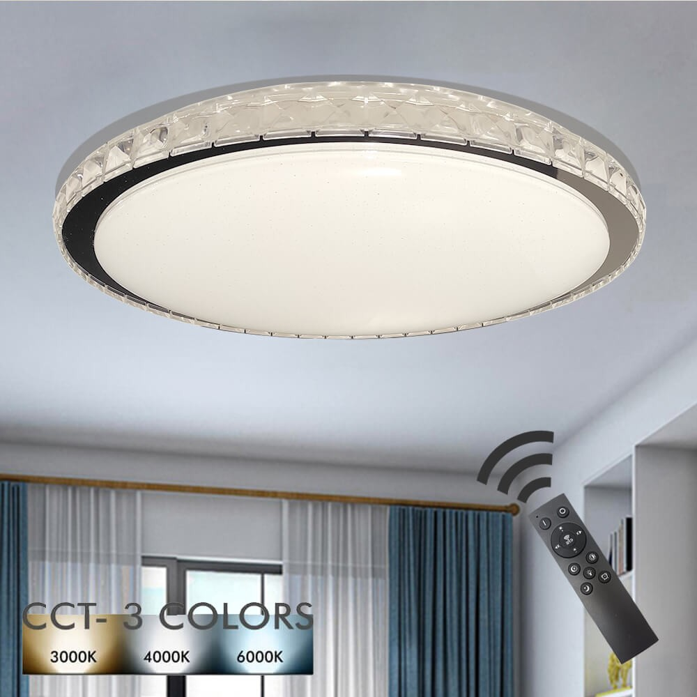 36w Led Ceiling Light Turku Dimmable Cct Remote Control
