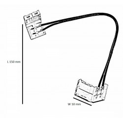 Monochrome LED strip connector