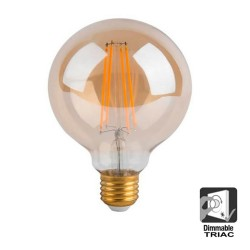8W LED Bulbs Filament vintage  G125 E27 dimmable