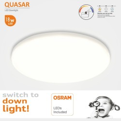 LED-alasvalo 18W - Frameless QUASAR -OSRAM CHIP DURIS E 2835 - CCT