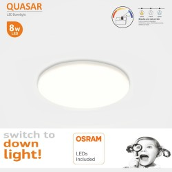LED-alasvalo 8W - Frameless QUASAR -OSRAM CHIP DURIS E 2835 - CCT