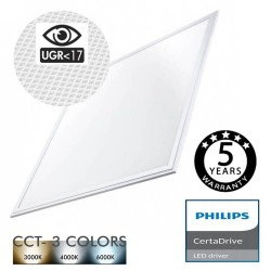 Painel LED 60x60 44W Driver Certa Philips UGR17 - CCT