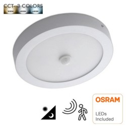 20W LED Ceiling Light Surface Motion Detector - CCT- OSRAM CHIP DURIS E 2835