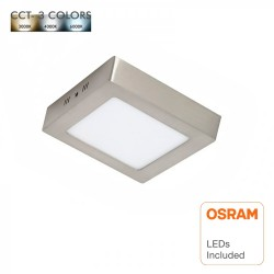Square Stainless Steel 8W LED Ceiling Light - CCT - OSRAM CHIP DURIS E 2835