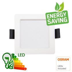 LED Downlight 10W - Firkantet - OSRAM CHIP DURIS E 2835 - CCT - UGR19