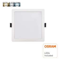 LED Downlight 15W - Firkantet - OSRAM CHIP DURIS E 2835 - CCT - UGR17
