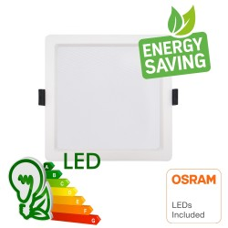 LED-alasvalo 15W - Neliö -OSRAM CHIP DURIS E 2835 - CCT - UGR17