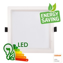 LED Downlight 30W - Firkantet - OSRAM CHIP DURIS E 2835 - CCT - UGR17