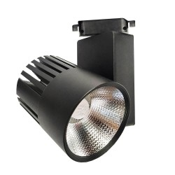 LED Tracklight 40W GRAZ Black BRIDGELUX Chip  single-phase rails - CRI +90