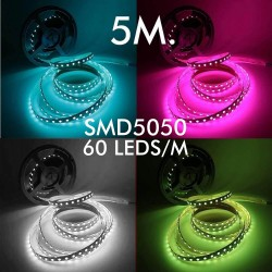 Indendørs fleksibel RGBW LED-strip 10W * 5m - SMD5050 - 24V